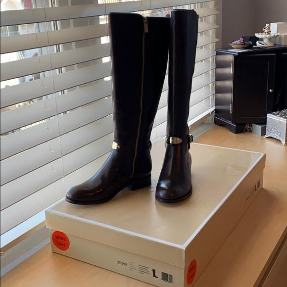0b493fae9aea Michael Kors Arley Riding Boots - Chocolate 5.5M